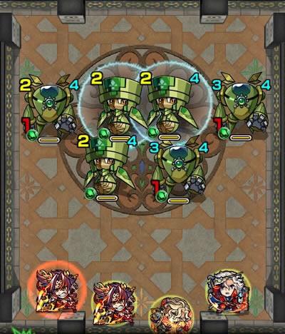 覇者の塔28階のザコ第1戦